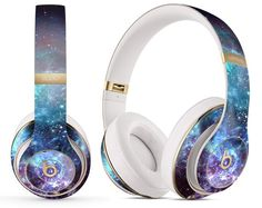 Trippy Space_Beats-Kit for the Beats by Dre Headphones (All Versions Available) Cheap Headphones, Beats Headphones, Bluetooth Headphones, Magical Jewelry, Unique Jewelry, Aesthetic Galaxy, Space Fashion, Beats By Dre, Console