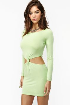 Double Knot Dress - Lime