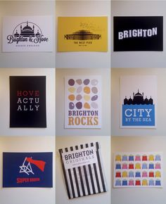 Brighton & Hove Postcards. £6.00, BrightonOriginals via Etsy