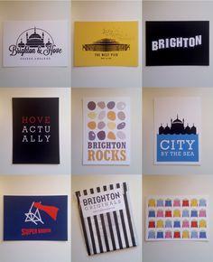 Brighton & Hove Postcards. £6.00, BrightonOriginals via Etsy