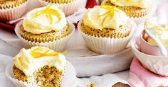 For the perfect afternoon delight, try these quick and easy orange and poppyseed cupcakes.