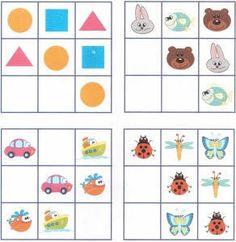 поставь в свободные места боксов недостающие картинки Sudoku Puzzles, Logic Games, World Thinking Day, Busy Boxes, Educational Games For Kids, Thinking Skills, Critical Thinking, Math For Kids, Brain Teasers