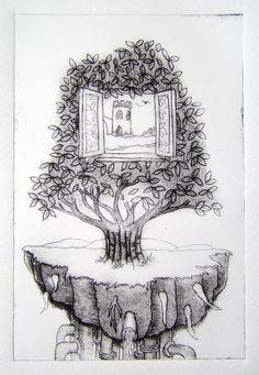 drypoint print by David Finkbeiner