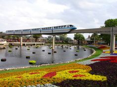 Monorail over water