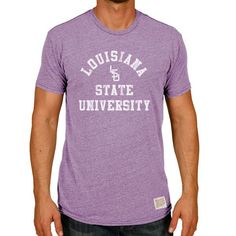 LSU Tigers Original Retro Brand Vintage University Tri-Blend T-Shirt - Heather Purple - $29.99