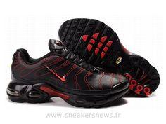 Chaussures de Nike Air Max Tn Requin Homme  Noir et Rouge Acheter Nike Tn