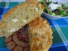 μικρή κουζίνα: Εύκολο τυρόψωμο Sandwiches, Bread, Food, Meals, Breads, Paninis, Bakeries, Yemek, Patisserie