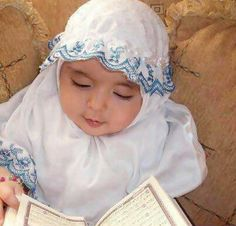 Learn Quran Academy provide the Quran learning services at home. Our mission to teach Quran with proper Tajweed and Tafseer to worldwide Muslim community. Cute Little Baby, Little Babies, Cute Babies, Baby Kids, Young And Beautiful, Beautiful Children, Beautiful Babies, Muslim Baby Names, Baby Hijab