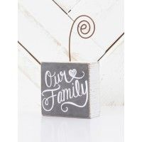 "Brighten your office with a picture of your family displayed on this sweet rustic picture holder.   - 3"" h x 3"" w x 1 1/2"" d   - imported"