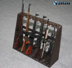TC86-01 1/6 ZYTOYS - Gun Stand: Store-Rooms.com Knife Block, Guns, Rooms, Cabinet, Store, Weapons Guns, Bedrooms, Clothes Stand, Coins