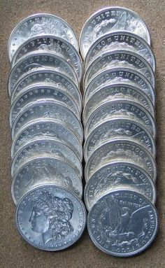 Morgan Silver Dollars  of the United States were minted at various mint locations from 1878 to 1921.