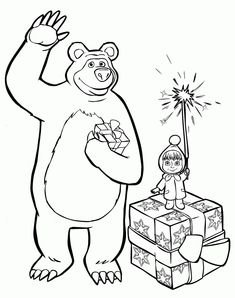 Máša a medveď - omaľovánky Bear Coloring Pages, Coloring Sheets For Kids, Adult Coloring, Coloring Books, Marsha And The Bear, Bear Drawing, Cartoon Tv Shows, Bear Birthday, Bear Wallpaper