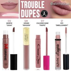 """""""Mi piace"""": 1,458, commenti: 15 - All in the Blush (@allintheblush) su Instagram: """"TROUBLE DUPESWhat @anastasiabeverlyhills shade would you like to see duped or re-duped next? Let…"""" #makeupdupes"""