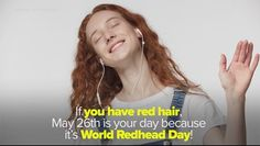 World Redhead Day is May 12 fun facts about red hair Red Hair Day, Red Brown Hair, Bright Red Hair, Hair A, Dark Hair, Burgundy Hair, Thick Hair, Redhead Facts, Redhead Day