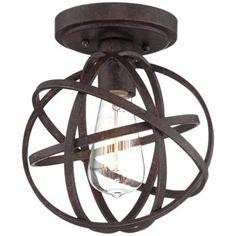 Industrial Atom 8 Wide Edison Bronze Ceiling Light lamps plus Industrial Ceiling Lights, Decorative Light Bulbs, Light Fixtures, Lights, Lamps Plus, Black Ceiling Lighting, Franklin Iron Works, Bronze Ceiling Lights, Ceiling Lights