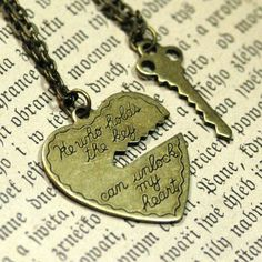 He who holds the key can unlock my heart. The key is on a separate chain in case you want to give it to someone. AH.. I need this