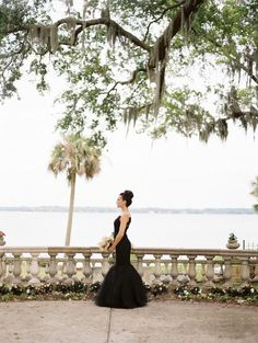 black wedding dress.