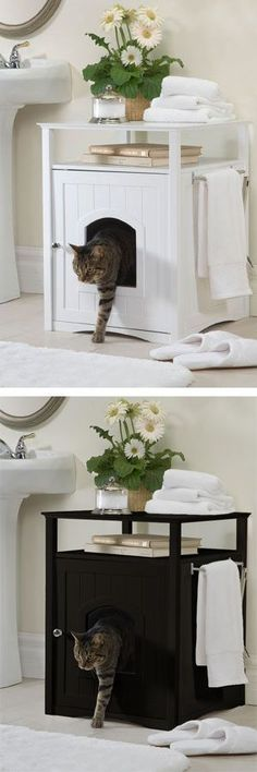 The Cat Washroom Litterbox Concealer - CatsPlay.com - Fun furniture, condos and climbing gyms for cats and kittens.