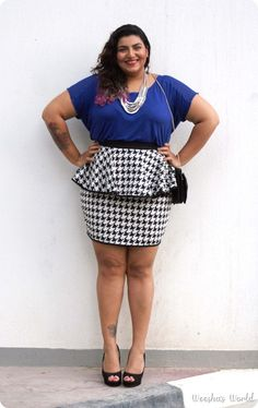 Weesha in that ASOS Curve skirt I've been drooling over!