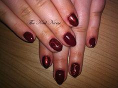 Rood + rood glitter met sticker en pailletjes