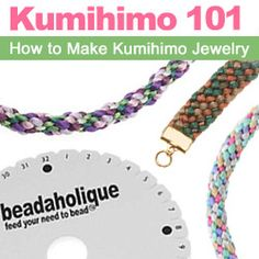 Kumihimo 101: How to Kumihimo - Learn this ancient art of Japanese braiding from www.beadaholique.com - find #kumihimo videos, tutorials and patterns plus kumihimo supplies for #beading #crafts and #diy #jewelry making.