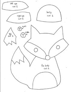 Fox Softie Pattern - templates only (can't download without Scribd account, but can right click to save).  Tutorial is here - http://littlewhiteschoolhouse.blogspot.ca/2013/05/free-fox-softie-pattern.html?m=1