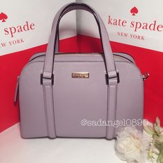 """NEW KATE SPADE SMALL FELIX NEWBURY LANE ⚜ Color: Lilacbliss  ⚜ Material: safiano ⚜Measurment: 11.5""""-8.5""""-5"""" ⚜ Real photo  taken from me ⚜ Brand new✨, never used. 100% authentic from Kate Spade NY ⚜ Tag, strap and care card are included ⚜ Pack with careand ship✈️right away ⚜ Freegiftincluded with purchase $100+ ➖➖➖➖➖➖➖➖➖➖➖➖➖ •TRADEP.P.HOLD •LOWBALLBUNDLE IF U HAVE NO INTENTION TO BUY • 15% OFF FOR BUNDLES • REASONABLE OFFERS WILL BE ACCEPTED. kate spade Bags Satchels"""