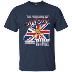 British Flag T-shirts Does Not Kill Me Should Run Shirts Hoodies Sweatshirts