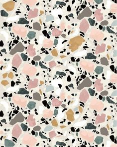 terrazo flooring Terrazzo Postcard by Sylvia Takken Do It Yourself Inspiration, Color Inspiration, Abstract Pattern, Pattern Art, Marble Pattern, Colour Pattern, Pastel Pattern, Textures Patterns, Print Patterns