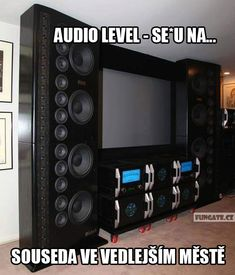 When the neighbors were too loud again during quiet times. Best Picture For Audio Room diy For . Home Theater Speakers, Home Theater Rooms, Cinema Room, Demons Imagine Dragons, Audio Room, Hifi Audio, Audiophile Speakers, Audio Speakers, Home Technology