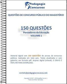 150 Questões - Coleção Pensadores da Educação.  #piaget #vygotsky #paulofreire #pedagogiaconcursos