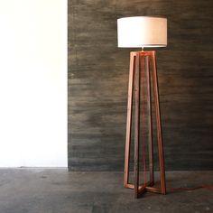 Modern A-frame Floor Lamp Reclaimed Wood Light Rustic by weareMFEO