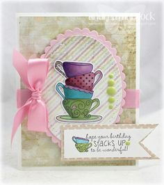 Tea cup card - Taylored Expressions