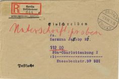 Postscheckamt Berlin NW (Ost) 07-10-1948
