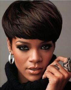 Cheap Machine Made Human Hair Wig Natural Black Straight Brazilian Human Hair Handsome Short Hair 023, $41.89