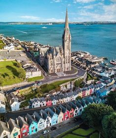 The colorful houses of Cobh, Ireland.