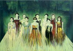 Claire Tabouret -  Les Débutantes (vert émeraude)