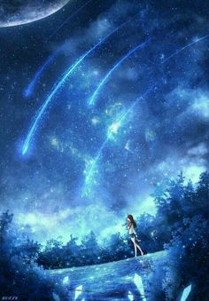 grafika discovered by k_x_mb. Discover (and save!) your own images and videos on We Heart It Anime Galaxy, Galaxy Art, Fantasy Art Landscapes, Fantasy Landscape, Art Anime, Anime Artwork, Music Artwork, Animes Wallpapers, Cute Wallpapers