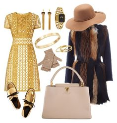 """Gold"" by melady0202 on Polyvore featuring мода, Burberry, Marni, BLANCHA, Qi Cashmere, Mudd, Louis Vuitton, Cachet, Chloé и Chanel"