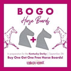 🐎🐎Where are our Kentucky Derby fans??? Or horse fans in general? Since the Kentucky Derby is coming up on September 5th, we'd like to give you a chance to prepare some beautiful horse wreaths. 🐴This weekend, July 24th through 26th, we're offering Buy One Get One Free on our horse wreath boards! ⠀ Grab your horse boards now 👇⠀ #UITC #uniqueinthecreek #kentuckyderby #horse Diy Wreath, Wreath Making, Free Horses, Animal Decor, Buy One Get One, How To Make Wreaths, Kentucky Derby, Beautiful Horses, Boards