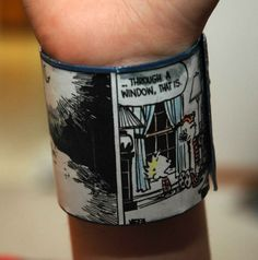 Calvin and Hobbes recycled plastic bracelet by RecycledArts, $4.00