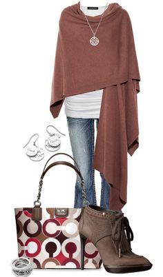 """""""Coach & Cashmere"""" by jewhite76 ❤ liked on Polyvore"""