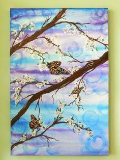 Original Acrylic Butterfly Painting Monarchy On by Artfulcreations Butterfly Painting, Butterfly Wallpaper, Butterfly Art, Monarch Butterfly, Butterflies, Jar Art, Acrylic Art, Acrylic Paintings, Painting Inspiration