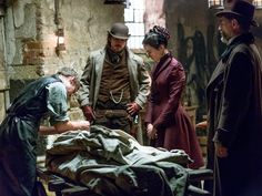 Harry Treadaway as Dr. Victor Frankenstein, Josh Hartnett as Ethan Chandler, Eva Green as Vanessa Ives and Timothy Dalton as Sir Malcolm in Penny Dreadful (season episode - Photo: Jonathan Hession/SHOWTIME - Photo ID: Best Television Series, Tv Series, Josh Hartnett Penny Dreadful, Penny Dreadful Ethan, Ethan Chandler, Penny Dreadfull, Victor Frankenstein, Fantasy Tv, Fantasy Gowns
