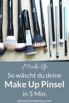 Make Up Pinsel waschen Anleitung Tutorial reinigung