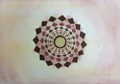 Earth Red . Mandala . Original acrylic by Arkofconsciousness