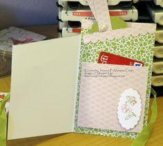Zig Zag Gift Card Holder Open