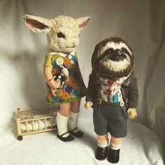 Annie Montgomerie child doll art (please follow minkshmink on pinterest)