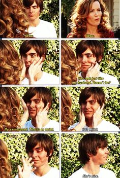 17 again. Love this part-- I feel like Zac's face must have hurt after filming this scene