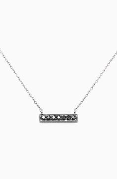 Dana Rebecca Designs 'Sylvie Rose' Diamond Bar Pendant Necklace available at #Nordstrom